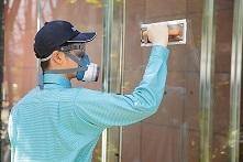ガラス面防虫画像
